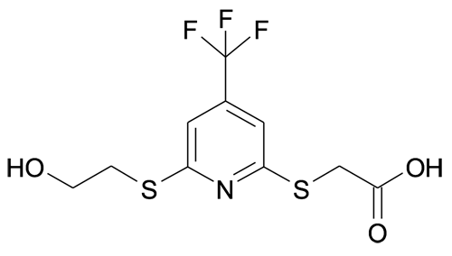 [6-(2-Hydroxyethylsulfanyl)-4-(trifluoromethyl)pyridin-2-ylsulfanyl]acetic acid