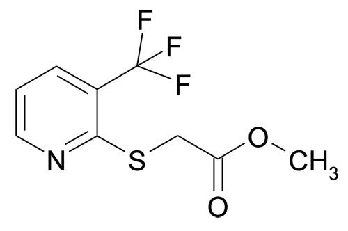 Methyl (3-(trifluoromethyl)pyridin-2-ylsulfanyl)acetate