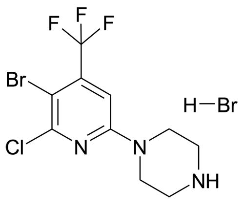 1'-(5-Bromo-6-chloro-4-(trifluoromethyl)pyridin-2-yl)piperazine hydrobromide