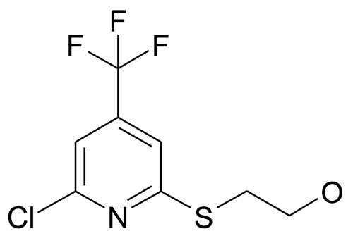 2-Chloro-6-(2-hydroxyethylsulfanyl)-4-(trifluoromethyl)pyridine