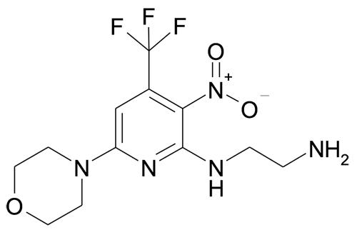 MFCD11052405 | N*1*-(6-Morpholin-4'-yl-3-nitro-4-(trifluoromethyl)pyridin-2-yl)ethane-1,2-diamine | acints