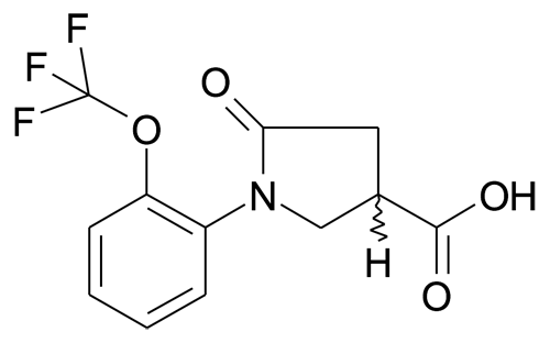 5-Oxo-1-(2-trifluoromethoxy-phenyl)-pyrrolidine-3-carboxylic acid