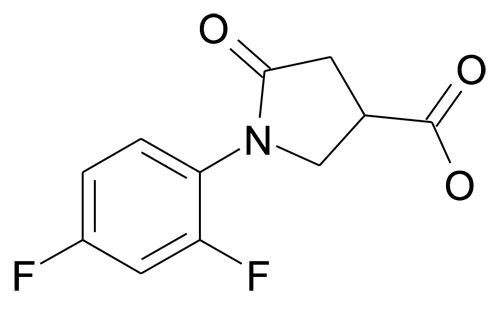 N-(2,4-Difluorophenyl)pyrrolidin-2-one-4-carboxylic acid