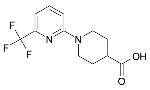 1-[6-(trifluoromethyl)pyridin-2-yl]piperidine-4-carboxylic acid