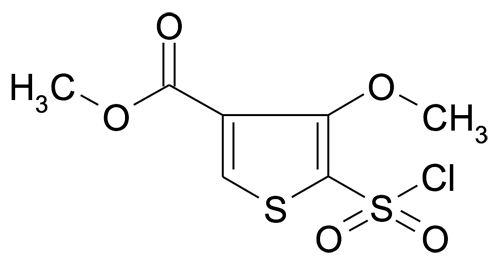 5-Chlorosulfonyl-4-methoxy-thiophene-3-carboxylic acid methyl ester