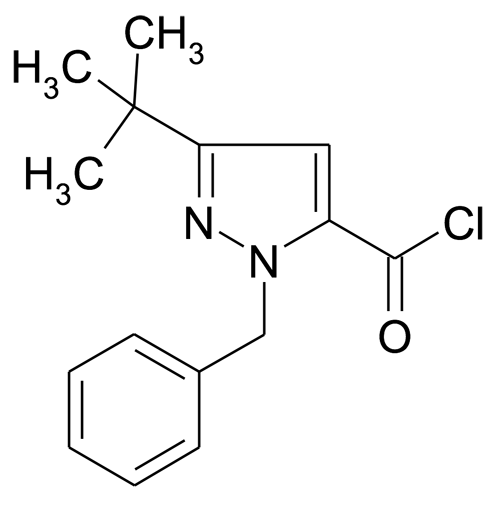 2-Benzyl-5-tert-butyl-2H-pyrazole-3-carbonyl chloride