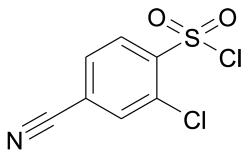2-Chloro-4-cyano-benzenesulfonyl chloride