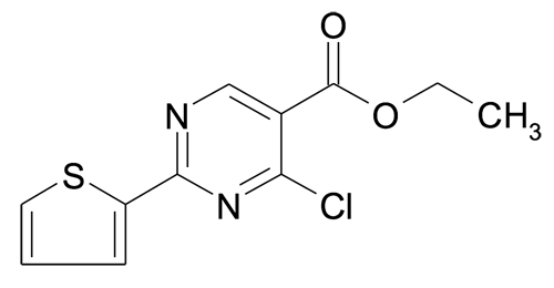 4-Chloro-2-thiophen-2-yl-pyrimidine-5-carboxylic acid ethyl ester