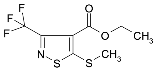5-Methylsulfanyl-3-trifluoromethyl-isothiazole-4-carboxylic acid ethyl ester