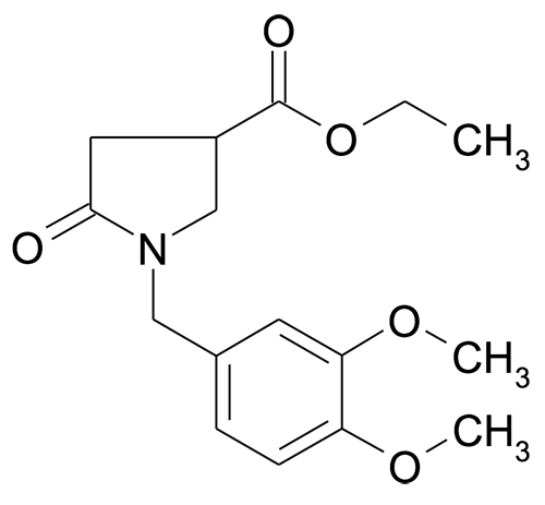 | MFCD11845734 | 1-(3,4-Dimethoxy-benzyl)-5-oxo-pyrrolidine-3-carboxylic acid ethyl ester | acints