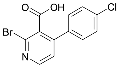 2-Bromo-4-(4-chloro-phenyl)-nicotinic acid