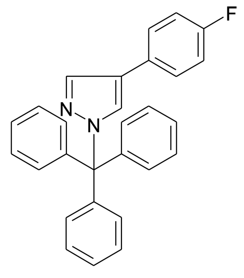 4-(4-Fluoro-phenyl)-1-trityl-1H-pyrazole