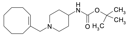   MFCD15142797   [1-((E)-1-Cyclooct-1-enyl)methyl-piperidin-4-yl]-carbamic acid tert-butyl ester   acints