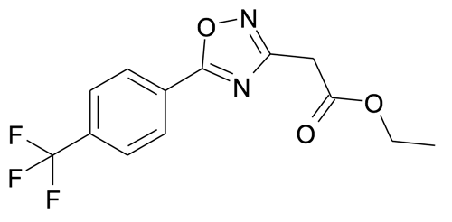 [5-(4-Trifluoromethyl-phenyl)-[1,2,4]oxadiazol-3-yl]-acetic acid ethyl ester