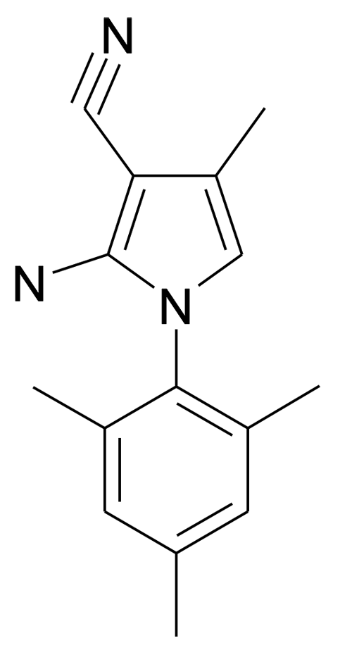 | MFCD15142844 | 2-Amino-4-methyl-1-(2,4,6-trimethyl-phenyl)-1H-pyrrole-3-carbonitrile | acints