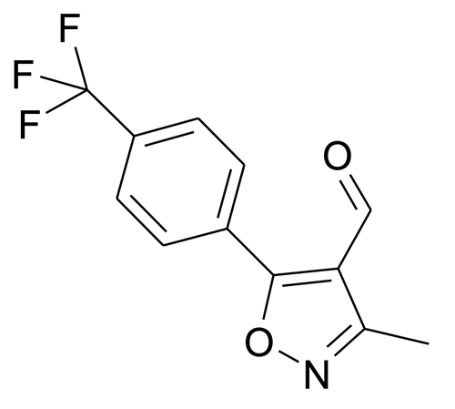 | MFCD15142854 | 3-Methyl-5-(4-trifluoromethyl-phenyl)-isoxazole-4-carbaldehyde | acints