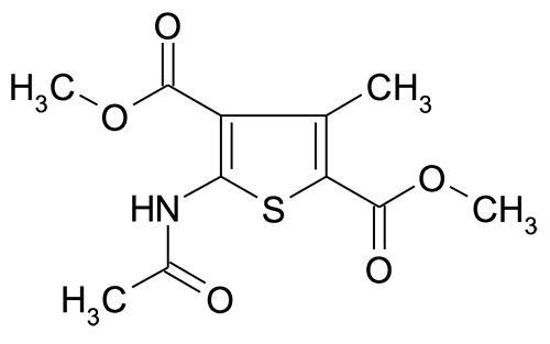 5-Acetylamino-3-methyl-thiophene-2,4-dicarboxylic acid dimethyl ester