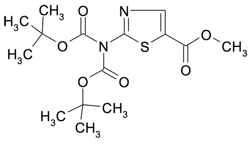 methyl 2-[bis(tertbutoxycarbonyl)amino]thiazole-5-carboxylate