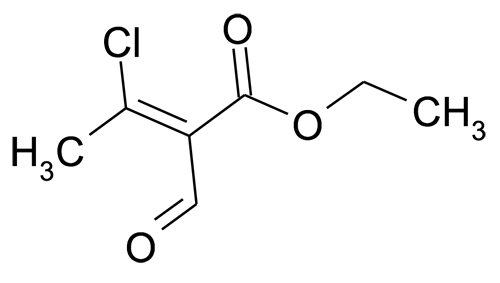 (Z)-3-Chloro-2-formyl-but-2-enoic acid ethyl ester