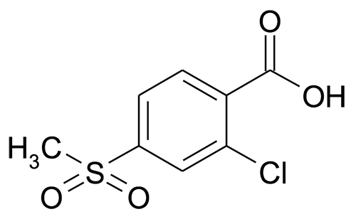 2-Chloro-4-methanesulfonyl-benzoic ac
