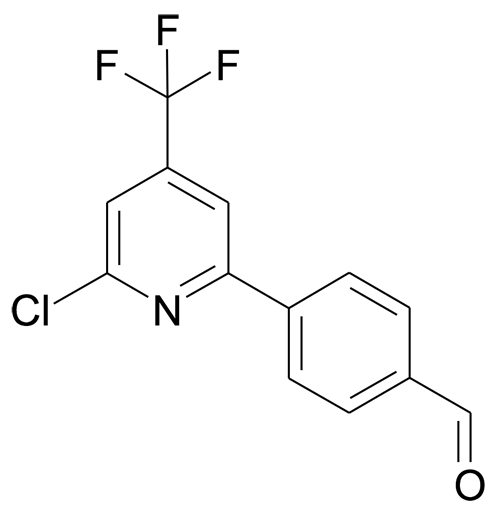 4-(6-Chloro-4-trifluoromethyl-pyridin-2-yl)-benzaldehyde