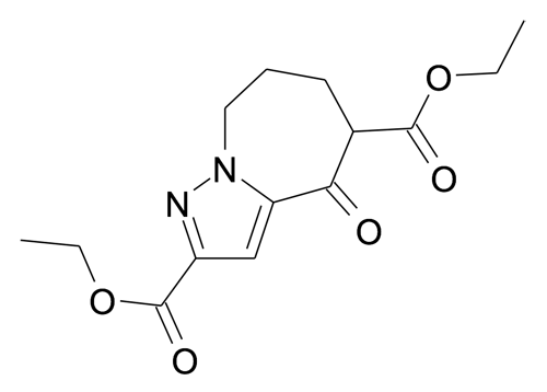 4-Oxo-5,6,7,8-tetrahydro-4H-pyrazolo[1,5-a]azepine-2,5-dicarboxylic acid diethyl ester
