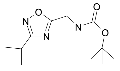 (3-Isopropyl-[1,2,4]oxadiazol-5-ylmethyl)-carbamic acid tert-butyl ester