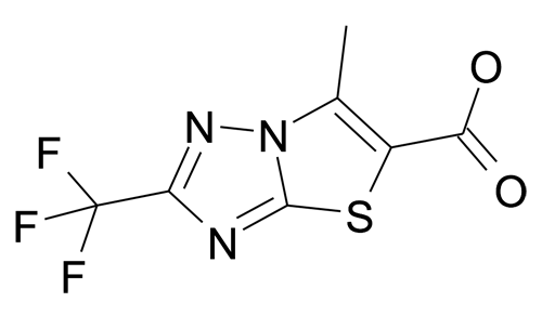 6-Methyl-2-trifluoromethyl-thiazolo[3,2-b][1,2,4]triazole-5-carboxylic acid