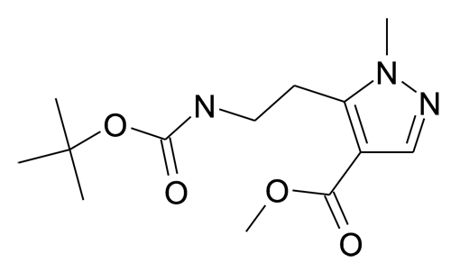 5-(2-tert-Butoxycarbonylamino-ethyl)-1-methyl-1H-pyrazole-4-carboxylic acid methyl ester