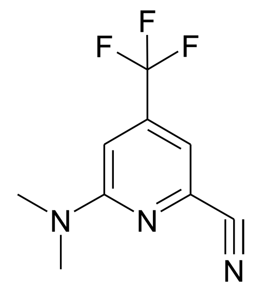 6-Dimethylamino-4-trifluoromethyl-pyridine-2-carbonitrile