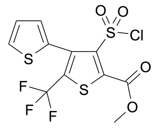 4'-Chlorosulfonyl-2'-trifluoromethyl-[2,3']bithiophenyl-5'-carboxylic acid methyl ester