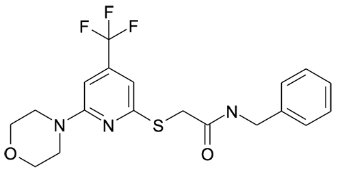 N-Benzyl-2-(6-morpholin-4-yl-4-trifluoromethyl-pyridin-2-ylsulfanyl)-acetamide