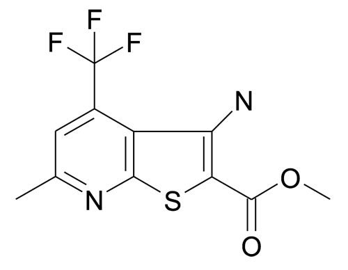 3-Amino-6-methyl-4-trifluoromethyl-thieno[2,3-b]pyridine-2-carboxylic acid methyl ester