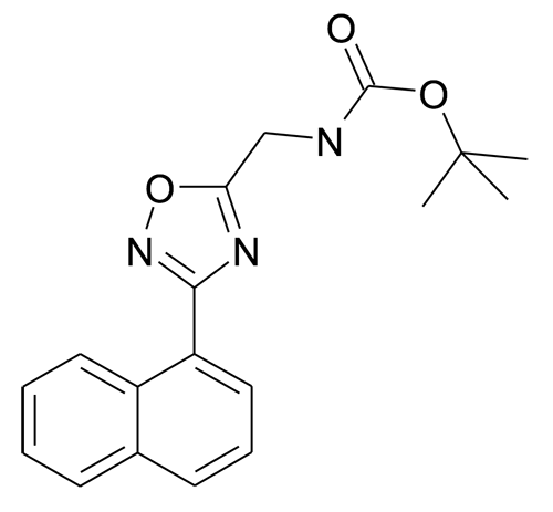 (3-Naphthalen-1-yl-[1,2,4]oxadiazol-5-ylmethyl)-carbamic acid tert-butyl ester