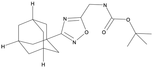 | MFCD27937081 | (3-Adamantan-1-yl-[1,2,4]oxadiazol-5-ylmethyl)-carbamic acid tert-butyl ester | acints