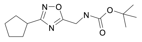 (3-Cyclopentyl-[1,2,4]oxadiazol-5-ylmethyl)-carbamic acid tert-butyl ester