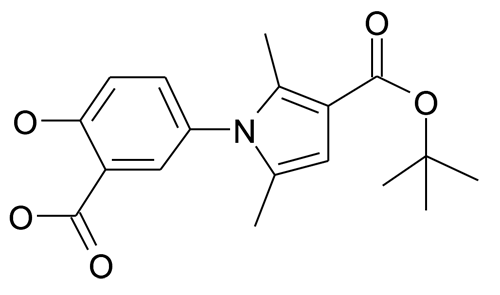 1-(3-Carboxy-4-hydroxy-phenyl)-2,5-dimethyl-1H-pyrrole-3-carboxylic acid tert-butyl ester