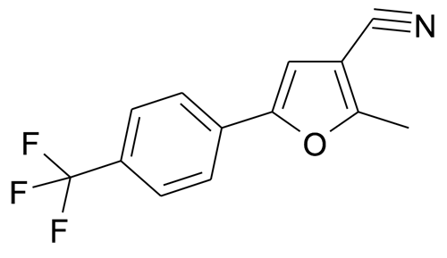 2-Methyl-5-(4-trifluoromethyl-phenyl)-furan-3-carbonitrile