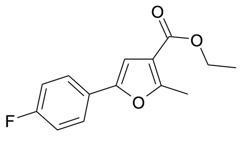 11787-83-8 | MFCD05664426 | 5-(4-Fluoro-phenyl)-2-methyl-furan-3-carboxylic acid ethyl ester | acints