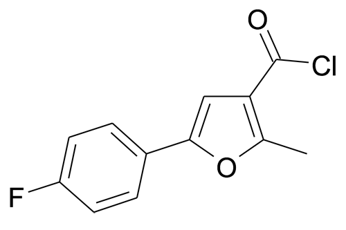 5-(4-Fluoro-phenyl)-2-methyl-furan-3-carbonyl chloride