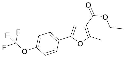 2-Methyl-5-(4-trifluoromethoxy-phenyl)-furan-3-carboxylic acid ethyl ester