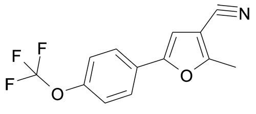 2-Methyl-5-(4-trifluoromethoxy-phenyl)-furan-3-carbonitrile