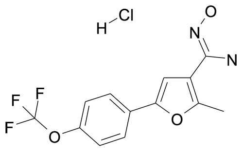 N-Hydroxy-2-methyl-5-(4-trifluoromethoxy-phenyl)-furan-3-carboxamidine; hydrochloride