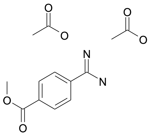 4-Methoxycarbonylbenzamidine diacetic acid salt