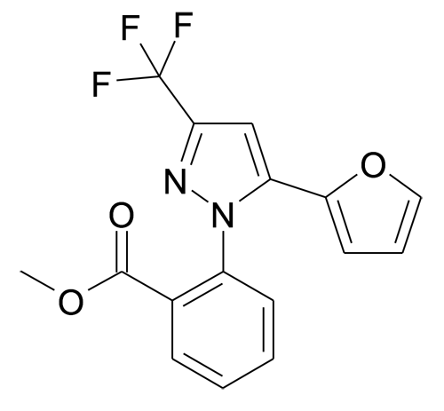 2-(5-Furan-2-yl-3-trifluoromethyl-pyrazol-1-yl)-benzoic acid methyl ester