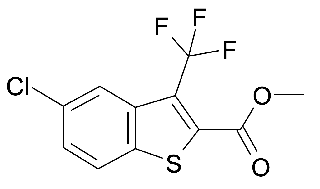 5-Chloro-3-trifluoromethyl-benzo[b]thiophene-2-carboxylic acid methyl ester