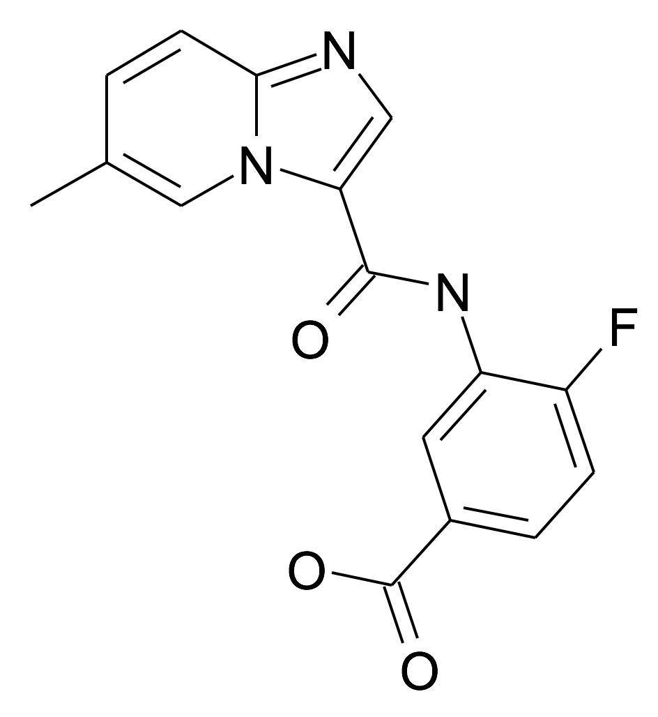 4-Fluoro-3-[(6-methyl-imidazo[1,2-a]pyridine-3-carbonyl)-amino]-benzoic acid