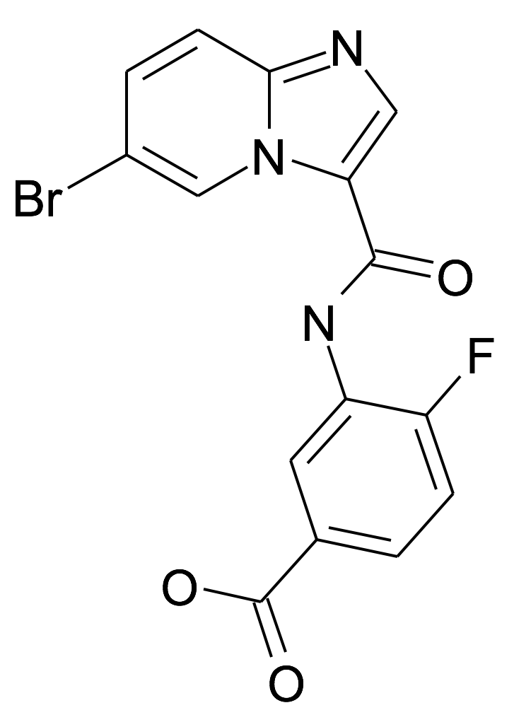 3-[(6-Bromo-imidazo[1,2-a]pyridine-3-carbonyl)-amino]-4-fluoro-benzoic acid