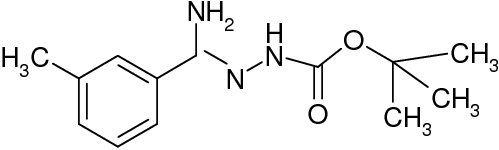 N'-[1-Amino-1-m-tolylmethylidene]hydrazinecarboxylic acid tert-butyl ester