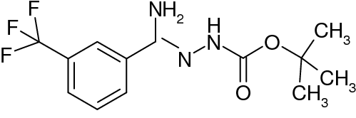N'-[1-Amino-1-(3-(trifluoromethyl)phenyl)methylidene]hydrazinecarboxylic acid tert-butyl ester